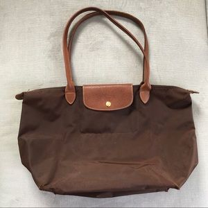 Longchamp Le Pliage Large Tote in Brown